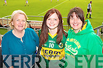 Breda O'Connor, Leah and Regina Mansfield, Ballymac Kerry fans pictured at the GAA Chamoionship Quarter Final at Semple Stadium, Thurles on Sunday.