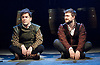 Rosencrantz &amp; Guildenstern Are Dead <br /> by Tom Stoppard <br /> at The Old Vic, London, Great Britain <br /> press photocall <br /> 3rd March 2016 <br /> EMBARGOED UNTIL 12 NOON ON MONDAY 6TH MARCH 2017 <br /> <br /> <br /> <br /> Josh McGuire as Guildenstern <br /> Daniel Radcliffe as Rosencrantz <br /> <br /> <br /> Photograph by Elliott Franks <br /> Image licensed to Elliott Franks Photography Services