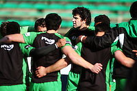 Manawatu captain Nick Crosswell huddles with his team before the match during the Air NZ Cup preseason match between Manawatu Turbos and Wellington Lions at FMG Stadium, Palmerston North, New Zealand on Friday, 17 July 2009. Photo: Dave Lintott / lintottphoto.co.nz