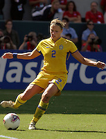 Karolina Westberg, Germany 2-1 over Sweden at the  WWC 2003 Championships.