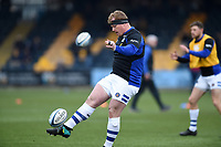 Jacques van Rooyen of Bath Rugby in action during the pre-match warm-up. Gallagher Premiership match, between Worcester Warriors and Bath Rugby on January 5, 2019 at Sixways Stadium in Worcester, England. Photo by: Patrick Khachfe / Onside Images