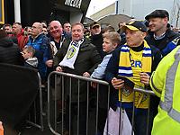 Leeds United fans waiting for the team bus<br /> <br /> Photographer David Horton/CameraSport<br /> <br /> The EFL Sky Bet Championship - Bristol City v Leeds United - Saturday 9th March 2019 - Ashton Gate Stadium - Bristol<br /> <br /> World Copyright © 2019 CameraSport. All rights reserved. 43 Linden Ave. Countesthorpe. Leicester. England. LE8 5PG - Tel: +44 (0) 116 277 4147 - admin@camerasport.com - www.camerasport.com