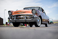 1957 Trailered Restored Junior (#65) – 1957 Chevrolet Bel Air Convertible registered to Patrick Knight is pictured during 4th State Representative Chevy Show on Thursday, June 30, 2016, in Fort Wayne, Indiana. (Photo by James Brosher)
