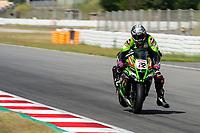 9th July 2020; Circuit de Barcelona Catalunya, Barcelona, Spain; FIM Superbike World Championship Test, Day Two; Alex Lowes of the Kawasaki Racing Team Worldsbk rides the Kawasaki ZX 10RR