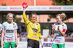 Stockholm 2015-07-11 Fotboll Damallsvenskan Hammarby IF DFF - Vittsj&ouml; GIK :  <br /> Hammarbys m&aring;lvakt Sofia Lundgren inf&ouml;r matchen mellan Hammarby IF DFF och Vittsj&ouml; GIK <br /> (Foto: Kenta J&ouml;nsson) Nyckelord:  Fotboll Damallsvenskan Dam Damer Zinkensdamms IP Zinkensdamm Zinken Hammarby HIF Bajen Vittsj&ouml; GIK portr&auml;tt portrait