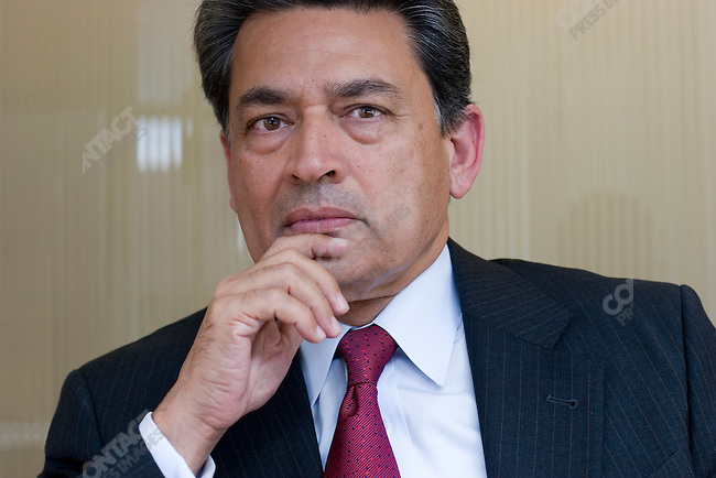 Rajat K. Gupta, senior partner worldwide at McKinsey & Company on the 27th floor of his office in New York City, New York, USA, August 18, 2006
