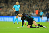 1st November 2017, Wembley Stadium, London, England; UEFA Champions League, Tottenham Hotspur versus Real Madrid; A dejected Cristiano Ronaldo of Real Madrid hits the turf as another chance is missed