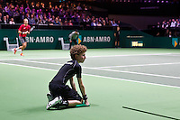 Rotterdam, The Netherlands, Februari 8, 2016,  ABNAMROWTT, Thiemo de Bakker (NED), Ball-Boy<br /> Photo: Tennisimages/Henk Koster