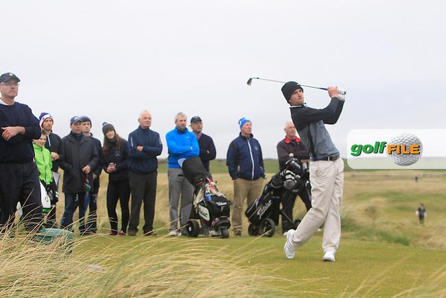 Sean Flanagan (Co. Sligo) during the 36 hole stroke play qualifying on April 4th 2015 for the 2015 West of Ireland Open Championship, Co. Sligo, Golf Club, Rosses Point, Sligo, Ireland.<br /> Picture: Thos Caffrey / Golffile