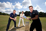 SWALEC ambassador Robert Croft with St Fagans cricketers Iori Moore and Joe O'Gorman.<br /> <br /> St Fagans Cricket Club<br /> <br /> 24.07.13<br /> &copy;Steve Pope-Sportingwales
