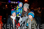Ayla, Ollie, Shiela and Noah Keogh, Killarney  at the Fireworks in Tralee on New Years Eve.