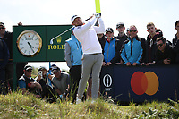 Tyrrell Hatton (ENG) during Round One of the 148th Open Championship, Royal Portrush Golf Club, Portrush, Antrim, Northern Ireland. 18/07/2019. Picture David Lloyd / Golffile.ie<br /> <br /> All photo usage must carry mandatory copyright credit (© Golffile | David Lloyd)