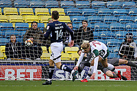 Brad Potts scores Barnsley's opening goal and celebrates during Millwall vs Barnsley, Emirates FA Cup Football at The Den on 6th January 2018