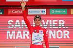 Rudy Molard (FRA) Groupama-FDJ retains the race leaders Red Jersey at the end of Stage 6 of the La Vuelta 2018, running 150.7km from Huércal-Overa to San Javier, Mar Menor, Sierra de la Alfaguara, Andalucia, Spain. 30th August 2018.<br /> Picture: Unipublic/Photogomezsport | Cyclefile<br /> <br /> <br /> All photos usage must carry mandatory copyright credit (© Cyclefile | Unipublic/Photogomezsport)