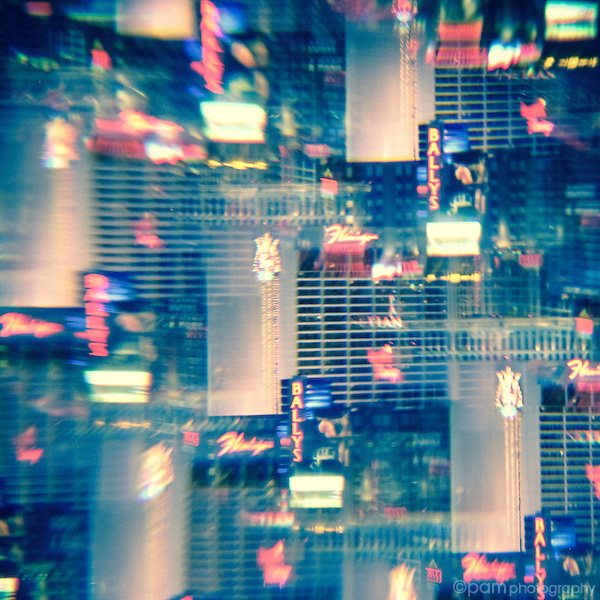 Vegas buildings as seen through a kaleidoscope
