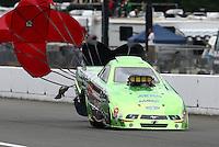 Aug. 3, 2013; Kent, WA, USA: NHRA top alcohol funny car driver Doug Gordon during qualifying for the Northwest Nationals at Pacific Raceways. Mandatory Credit: Mark J. Rebilas-USA TODAY Sports
