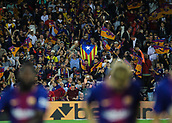 9th September 2017, Camp Nou, Barcelona, Spain; La Liga football, Barcelona versus Espanyol; An Estelada flag in the stadium