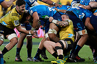 Hurricanes&rsquo; TJ Perenara in action during the Super Rugby - Hurricanes v Blues at Westpac Stadium, Wellington, New Zealand on Saturday 7 July 2018.<br /> Photo by Masanori Udagawa. <br /> www.photowellington.photoshelter.com