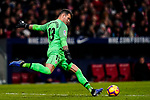Goalkeeper Iago Herrerin of Athletic de Bilbao in action during the La Liga 2018-19 match between Atletico de Madrid and Athletic de Bilbao at Wanda Metropolitano, on November 10 2018 in Madrid, Spain. Photo by Diego Gouto / Power Sport Images