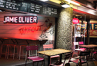 Jamie Oliver's take out Shaftesbury Avenue. London on Saturday February 10th 2018<br /> CAP/ROS<br /> &copy;ROS/Capital Pictures