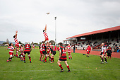 Counties Manukau Premier Club Rugby game between Papakura and Karaka played at Massey Park Papakura on Saturday May 5th 2018. Papakuar won the game 28 - 25 after trailing 6 - 12 at halftime.<br /> Papakura - Faalae Peni, Darryl Hemopo, George Crichton, Federick Cain tries, Faalae Peni conversion; Faalae Peni 2 penalties, Karaka -Salesitangi Savelio, Cardiff Vaega, Walter Fifita tries, Juan Benadie 2 conversions, Juan Benadie 2 penalties.<br /> Photo by Richard Spranger.