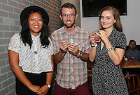 Freya Estreller, Taylor Gabriels and Justine Jones attend the Ludlows Jelly Shots Cocktail Crawl on August 27, 2014.