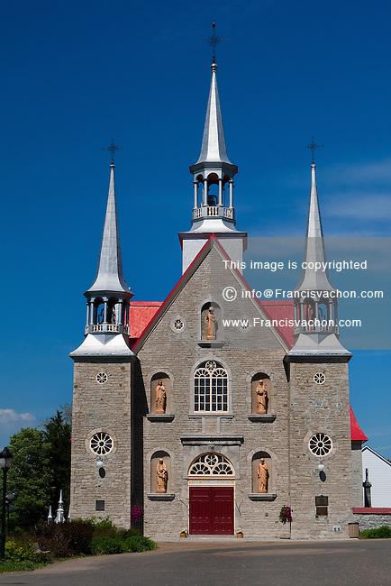 A Church is seen in Sainte-Famille, Ile d'Orleans, June 18, 2009.