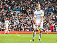 Leeds United's Patrick Bamford smiles as a chance goes begging<br /> <br /> Photographer Alex Dodd/CameraSport<br /> <br /> The EFL Sky Bet Championship - Leeds United v Nottingham Forest - Saturday 10th August 2019 - Elland Road - Leeds<br /> <br /> World Copyright © 2019 CameraSport. All rights reserved. 43 Linden Ave. Countesthorpe. Leicester. England. LE8 5PG - Tel: +44 (0) 116 277 4147 - admin@camerasport.com - www.camerasport.com