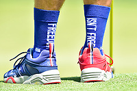 Bethesda, MD - July 1, 2018: A shot of Ben Crane's Caddy's socks during final round of professional play at the Quicken Loans National Tournament at TPC Potomac at Avenel Farm in Bethesda, MD.  (Photo by Phillip Peters/Media Images International)