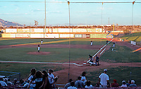 Ballparks: Adelanto, CA. Mavericks Stadium--right field from grandstand. A very light Monday evening crowd.
