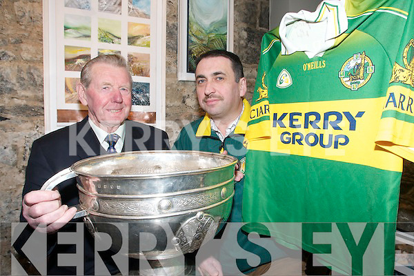 PARTY TIME: Kerry Supporters Club officers Jerry Savage and Martin Leane preparing for their annual Social and Awards Night at the Ballygarry House, Tralee, on Saturday January 20th.
