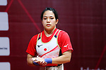 Ayana Sadoyama (JPN), <br /> AUGUST 21, 2018 - Weightlifting : <br /> Women's 53kg <br /> at JIExpo Kemayoran Hall A <br /> during the 2018 Jakarta Palembang Asian Games <br /> in Jakarta, Indonesia. <br /> (Photo by Naoki Nishimura/AFLO SPORT)