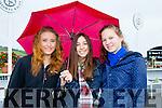 L-r Carina Lexmannova, Alaidamdri Garcia and Pia Math at the Listowel Harvest Racing Festival on Sunday