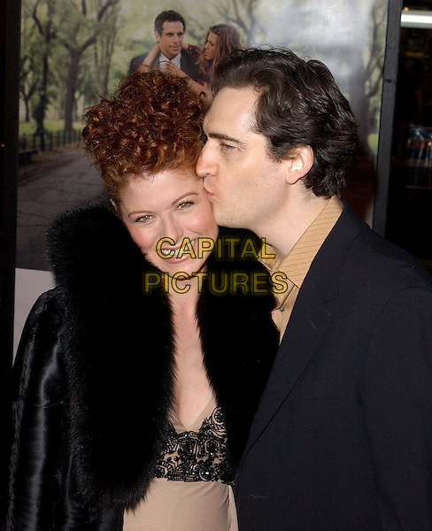 DEBRA MESSING.Universal Pictures World Premiere of Along Came Polly held at the Grauman's Chinese Theater .12 January 2004.kissing, pregnant.www.capitalpictures.com.sales@capitalpictures.com.©Capital Pictures.