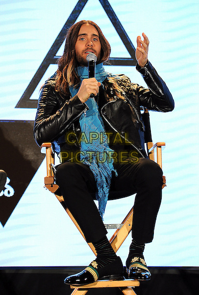 HOLLYWOOD, CA - MARCH 4: Jared Leto of 30 Seconds to Mars during a Live Nation press conference at Milk Studio in Hollywood, California to announce the &quot;Carnivors Tour&quot;. The tour begins on August 8 in West Palm Beach and will feature Linkin Park, 30 Seconds to Mars, and AFI. <br /> CAP/MPI<br /> &copy;Micelotta/PG/MediaPunch/Capital Pictures