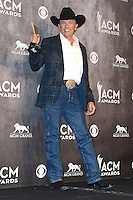LAS VEGAS, NV, USA - APRIL 06: George Strait in the press room at the 49th Annual Academy Of Country Music Awards held at the MGM Grand Garden Arena on April 6, 2014 in Las Vegas, Nevada, United States. (Photo by Celebrity Monitor)