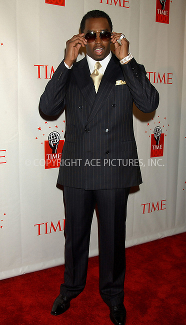 "WWW.ACEPIXS.COM . . . . . ....NEW YORK, MAY 8, 2006....Sean ""Diddy"" Combs at Time Magazine's 100 Most Influential People 2006.....Please byline: KRISTIN CALLAHAN - ACEPIXS.COM.. . . . . . ..Ace Pictures, Inc:  ..(212) 243-8787 or (646) 679 0430..e-mail: picturedesk@acepixs.com..web: http://www.acepixs.com"