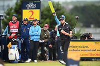 Shane Lowry (IRL) on the 2nd tee during final round of the 148th Open Championship, Royal Portrush golf club, Portrush, Antrim, Northern Ireland. 21/07/2019.<br /> Picture Fran Caffrey / Golffile.ie<br /> <br /> All photo usage must carry mandatory copyright credit (© Golffile | Fran Caffrey)
