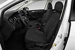 Front seat view of a 2019 Volkswagen Golf SportWagen S 5 Door Wagon front seat car photos