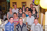 70th Birthday Wishes: Catherine Nolan, Taulaught, Fenit, celebrated her 70th Birthday at The Tankard, Fenit, on Saturday night last with her family and friends. Front row l-r: Paul Ahern, Noel Cronin and David Keane. Second row l-r: Ann Keane, Catherine Nolan (birthday girl) and Michael Nolan. Third row l-r: Breda Keane, Bernadette Diggins, Ann Cronin and Clare King. Back row l-r: Seamus King, Debbie Tierney and Liam Nolan..