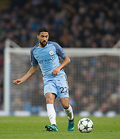 Gael Clichy of Manchester City during the UEFA Champions League GROUP match between Manchester City and Celtic at the Etihad Stadium, Manchester, England on 6 December 2016. Photo by Andy Rowland.