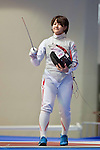 Haruka Yanaoka (JPN),<br /> AUGUST 10, 2013 - Fencing :<br /> World Fencing Championships Budapest 2013, Women's Team Foil Round of 16 at Syma Hall in Budapest, Hungary. (Photo by Enrico Calderoni/AFLO SPORT) [0391]