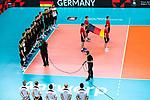 18.09.2019, Lotto Arena, Antwerpen<br />Volleyball, Europameisterschaft, Deutschland (GER) vs. Slowakei (SVK)<br /><br />Team Deutschland wŠhrend der Hymne<br /><br />  Foto © nordphoto / Kurth