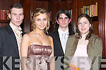 DELIGHTED: Delighted to be at the Presentation Debs at the Abbey Gate Hotel, Tralee. on Friday night. L-R: Liam Kelly, Eimante Mazeikaite, Kevin Kennelly and Ciara Stepney.