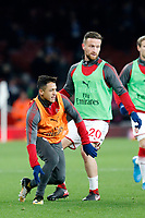 Alexis Sanchez of Arsenal seen warming up during the Premier League match between Arsenal and Huddersfield Town at the Emirates Stadium, London, England on 29 November 2017. Photo by Carlton Myrie / PRiME Media Images.