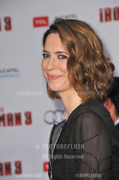"Rebecca Hall at the Los Angeles premiere of her movie ""Iron Man 3"" at the El Capitan Theatre, Hollywood..April 24, 2013  Los Angeles, CA.Picture: Paul Smith / Featureflash"