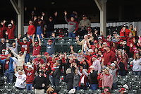 NWA Democrat-Gazette/ANDY SHUPE<br /> Arkansas Miami (Ohio) Friday, Feb. 17, 2017, during the inning at Baum Stadium in Fayetteville. Visit nwadg.com/photos to see more photographs from the game.
