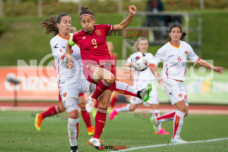 Spain's Veronica Boquete Montenegro's Tatjana Djurkovic during the match of  European Women's Championship 2017 at Las Rozas, between Spain and Montenegro. September 15, 2016. (ALTERPHOTOS/Rodrigo Jimenez) /NORTEPHOTO