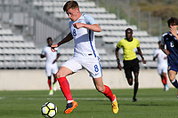 Harvey Barnes of Leicester City and England in action during England Under-18 vs Scotland Under-20, Toulon Tournament Semi-Final Football at Stade Parsemain on 8th June 2017