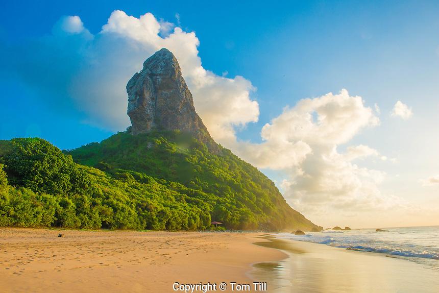 Pico Mountain above Boldro Beach, Fernando De Noronha Marine National Park, Brazil, Atlantic Ocean, World Heritage Site, Atlantic Ocean